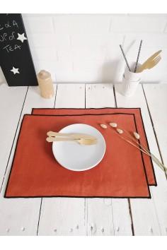 Set de table harmony en lin borgo paprika