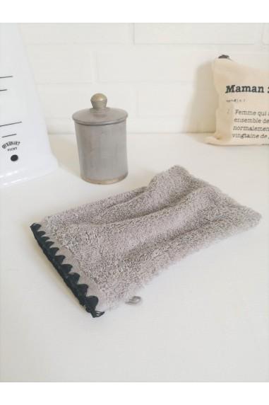 Gant de toilette harmony issey béton