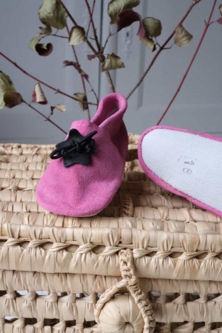 Chaussons cuir souple bebe - chaussons bebe - chausson cuir - wkhdeco