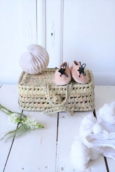 chaussons babouches BB Maroc nude wkh.