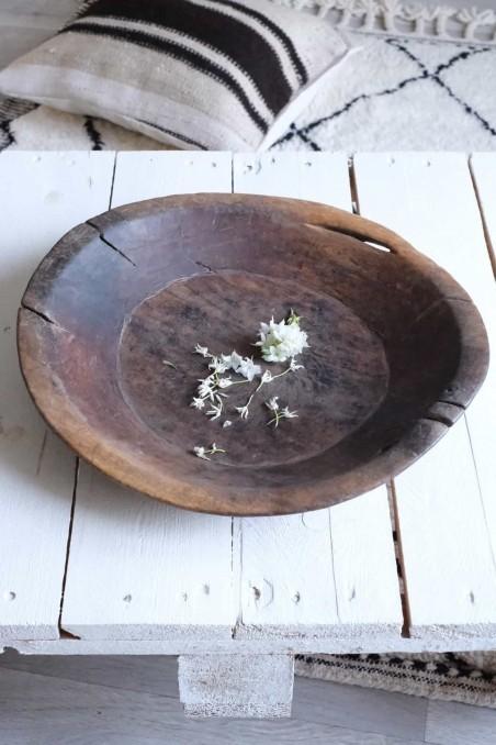 Plat touareg - bol touareg - saladier touareg - calebasse touareg - bois touareg ancien - bois berbère ancien - wkhdeco