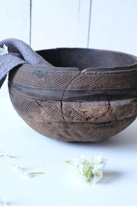 Saladier touareg - bol touareg - plat touareg - calebasse touareg - bois touareg ancien - bois berbère ancien - wkhdeco