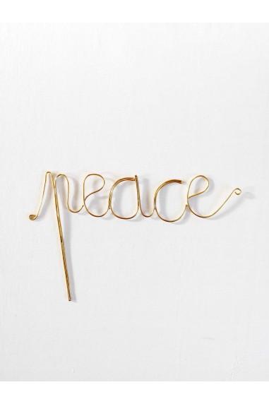 Mot peace - mot peace maillechort - mot laiton doré - dream - wkhdeco