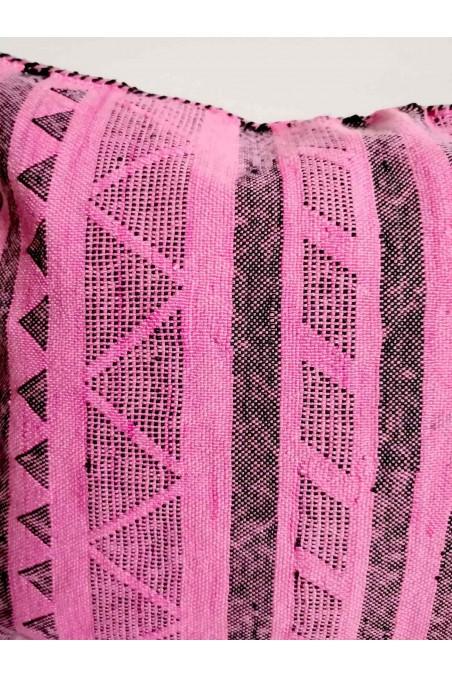 Coussin sabra rose - coussin soie de cactus - coussin fibre de cactus - coussin marocain - wkhdeco