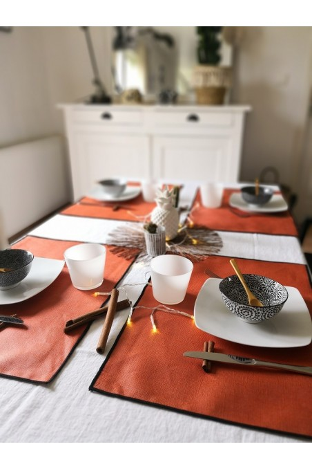 Set de table harmony en lin borgo paprika