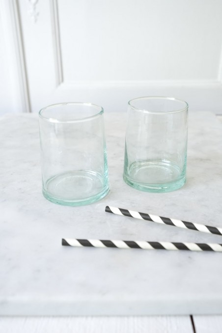 Verre beldi authentique - vrai verre beldi - vaisselle beldi - verre à eau - maroc - wkhdeco