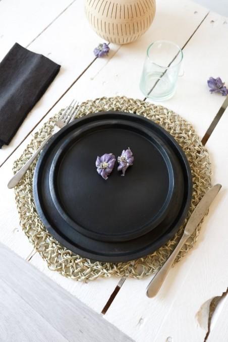 Set de table en feuilles de palmier - set de table naturel - set de table en paille - déco maroc - wkhdeco