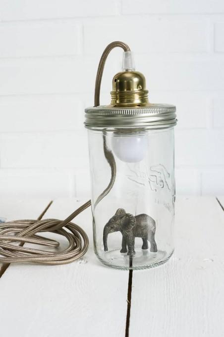 Lampe bocal le parfait - lampe figurine - lampe éléphant - lampe originale - wkhdeco