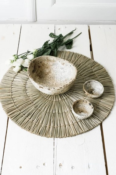 Set de table en paille - dessous de plat - dessous assiette - set de table naturel - deco de bali - bazar bizar - wkhdeco