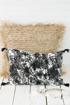 Coussin mahé blanc harmony - coussin en lin - harmony textile - wkhdeco