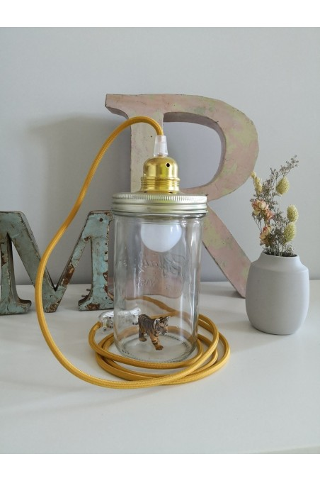 Lampe bocal figurine tigre - lampe bocal le parfait