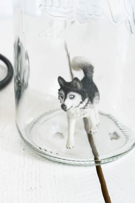 Lampe bocal le parfait - lampe figurine - lampe husky - lampe originale - wkhdeco