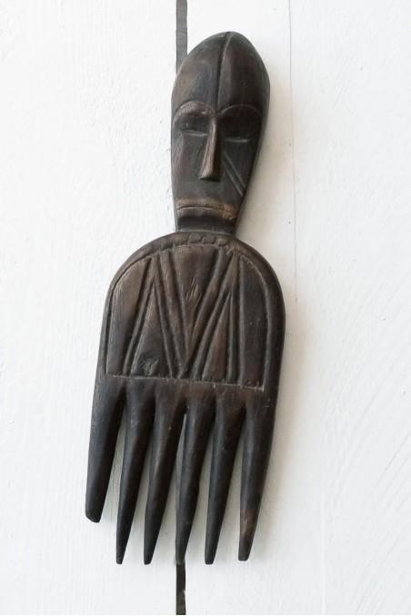 Peigne africain ancien en bois - peigne afro ancien - ASHANTI - GHANA - wkhdeco