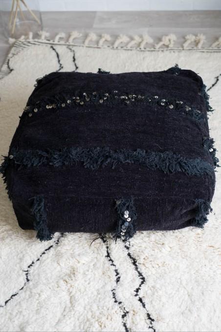 pouf handira noir wkhdeco