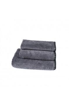 Serviette de toilette harmony issey granit - serviette éponge