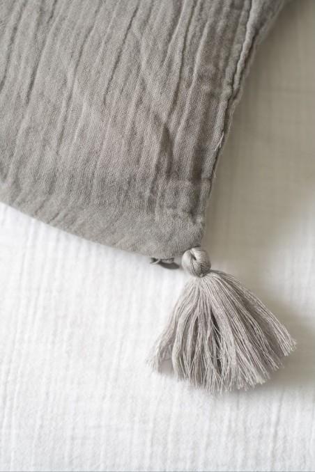 housse edredon dili gaze de coton gris brouillard harmony wkhdeco
