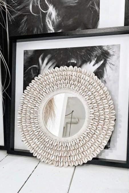 miroir rond coquillage bali bazar bizar