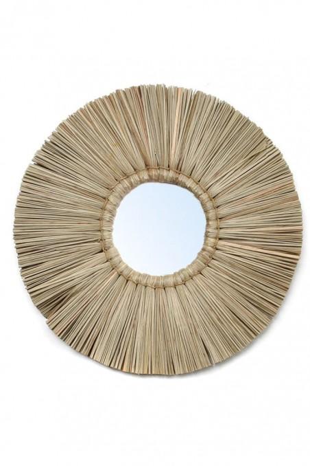 Miroir alang alang - miroir jonc de mer - miroir paille - deco de bali - bazar bizar - wkhdeco