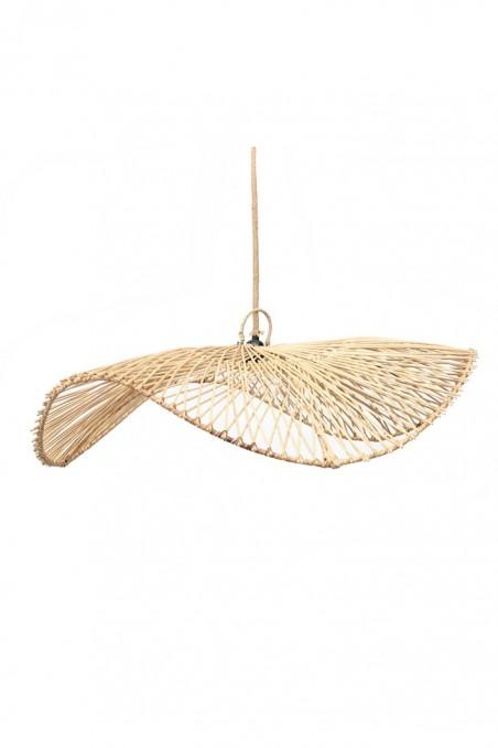 Suspension chapeau en rotin - grande suspension parasol - suspension marocaine - deco de bali - bazar bizar - wkhdeco