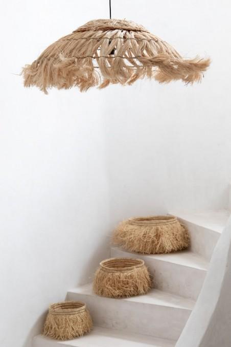 Panier en raphia à franges - panier en paille - panier déco - déco de bali - bazar bizar - wkhdeco