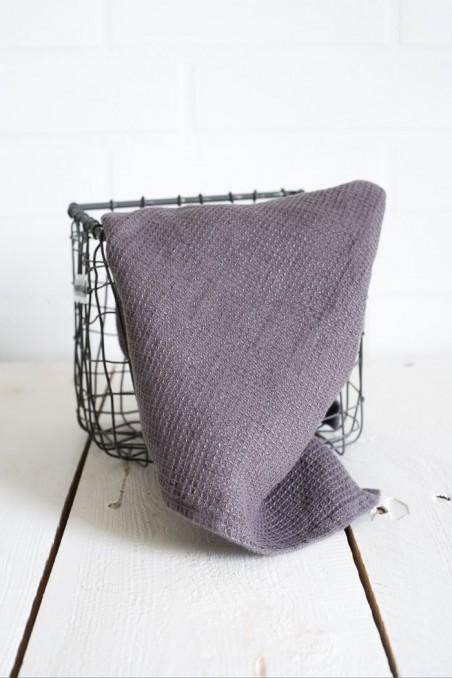 Essuie-main java harmony - granit - serviette invité - 100% lin - linge de maison - torchon - wkhdeco