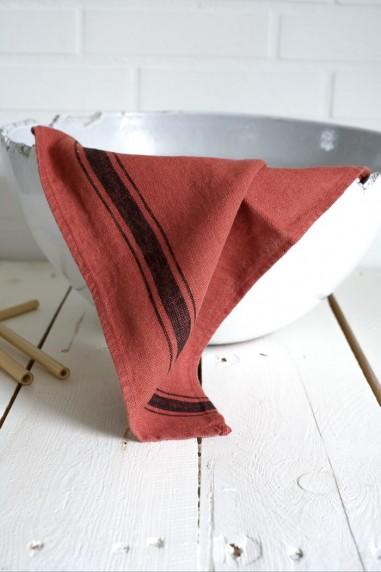 Torchon lin lavé harmony olbia argile