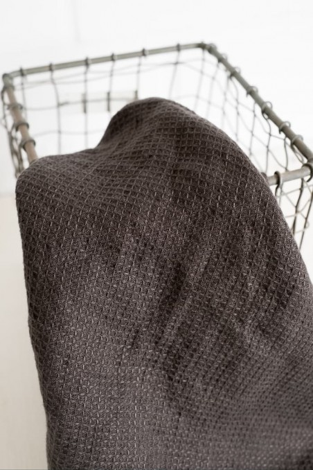 Essuie main harmony java charbon - torchon lin - essuie main lin - harmony textile - wkhdeco