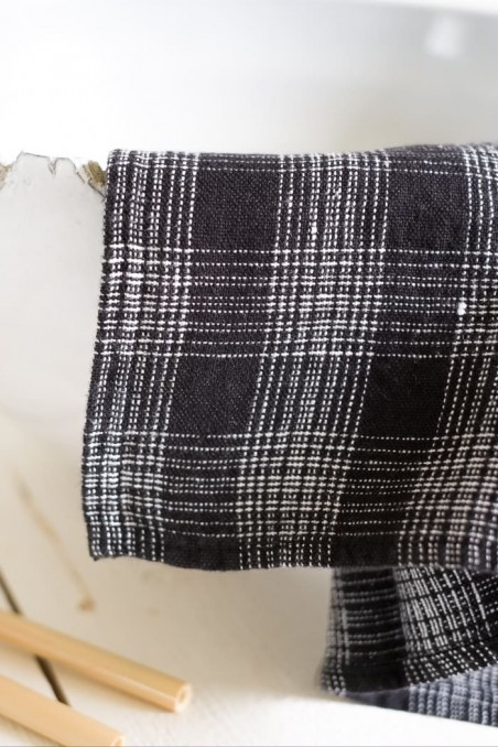 Torchon harmony calvi blanc - torchon en lin blanc - linge de maison en lin -  harmony textile - wkhdeco
