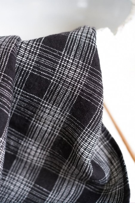 Torchon harmony monza noir - torchon en lin - linge de maison en lin -  harmony textile - wkhdeco