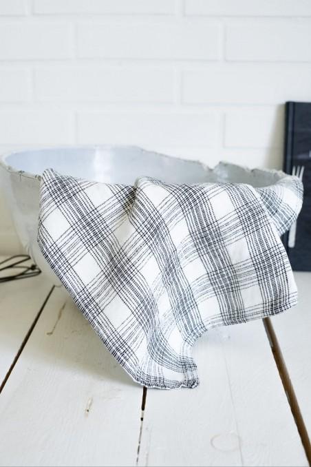 Torchon harmony monza blanc - torchon en lin - linge de maison en lin -  harmony textile - wkhdeco