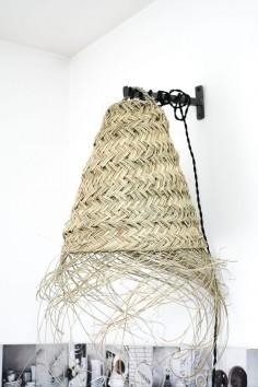 Suspension en paille - lampe paille - suspension doum - suspension feuille de palmier - suspension marocaine - wkhdeco
