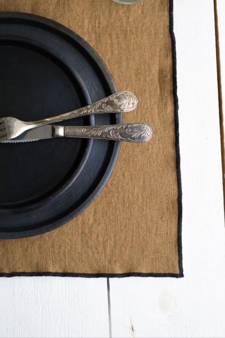 set de table luri - linge de maison - lin - harmony textile - set table luri tabac - wkhdeco
