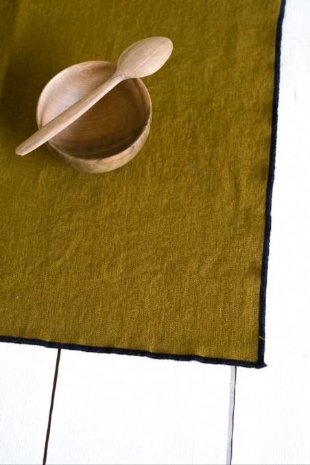 set de table luri - linge de maison - lin - harmony textile - set table luri bronze - wkhdeco