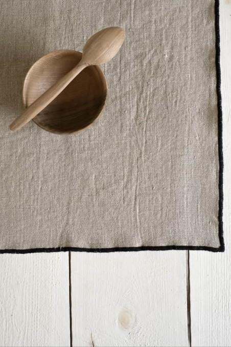 set de table luri - linge de maison - lin - harmony textile - set table luri naturel - wkhdeco