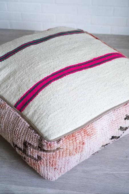 Pouf berbère boujaad - pouf laine - pouf marocain