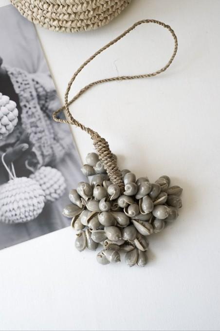Suspension coquillages - pampille coquillages - déco de bali - bazar bizar - wkhdeco