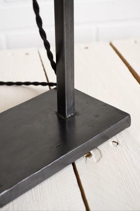 support baladeuse acier noir gris anthracite - pied de lampe - lampe de table - lampe industrielle - wkhdeco