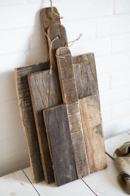 Planche en bois recyclé - planche en bois brut - planche rectangle en bois - Madam Stoltz - wkhdeco