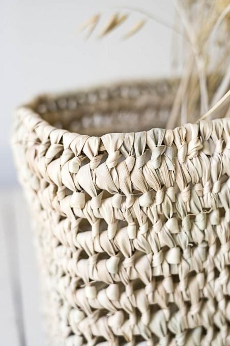 Corbeille naturelle - corbeille feuille de palmier - déco Maroc - déco bohème - wkhdeco
