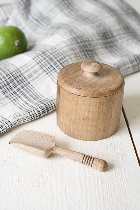 Pot en noyer - pot à épices - pot en bois - pot à sel - wkhdeco