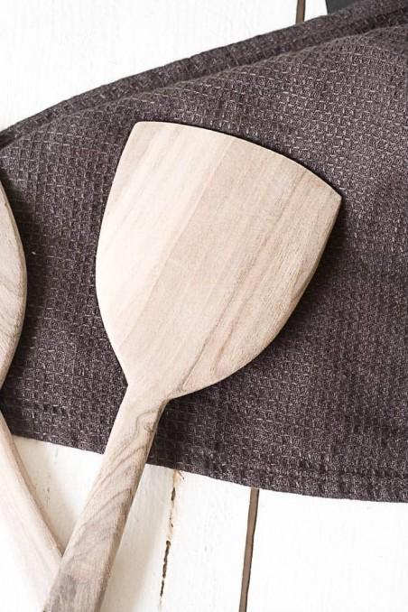 Couverts à salade en noyer  - spatule en bois - ustensile de cuisine - vaisselle en bois - vaisselle noyer - maroc - wkhdeco
