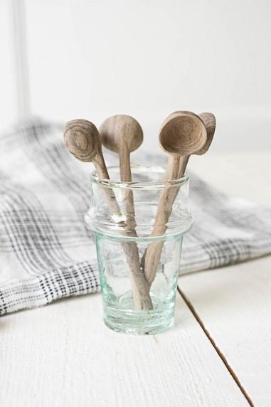 Mini louche - Petite cuillère en bois de noyer - cuillère bois - vaisselle bois - tasse à café étoile - wkhdeco