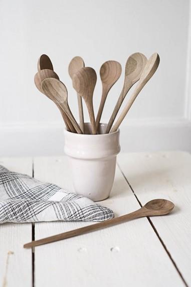 cuillère à confiture en bois de noyer - cuillère bois - vaisselle bois - wkhdeco