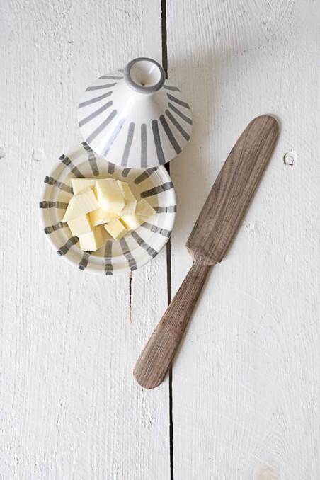 Couteau à beurre en bois de noyer - couteau bois - vaisselle bois - wkhdeco
