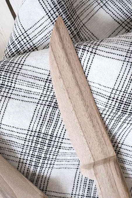 Couteau en bois de noyer - couteau bois - vaisselle bois - wkhdeco