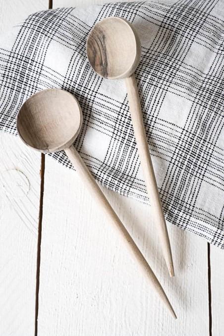 Louche - Louche en bois de noyer - cuillère bois - vaisselle bois - wkhdeco