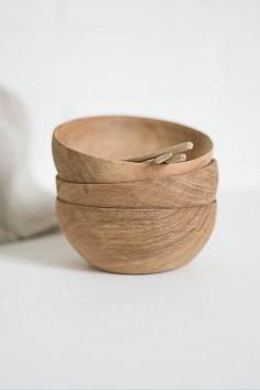 ramequin en olivier - bol en bois - ramequin bois - vaisselle bois - wkhdeco