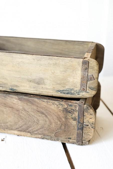 ancien moule à brique - moule à brique  - moule - Indien  - moule à brique en bois -  - bois ancien - bois ancien - wkhdeco