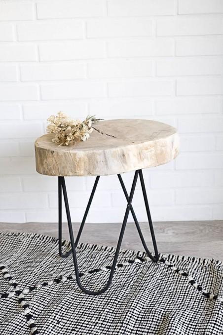 Table bois brut maroc -  Table bois brut - Table Naturelle - Artisanat Maroc - Table bois et métal  - wkhdeco