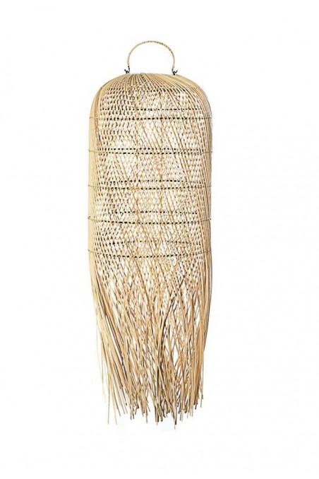 Suspension rotin naturel franges - luminaire - suspension rotin bali - wkhdeco